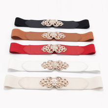 Fashion PU Leather Belts for Women Metal Heart Buckle Corset female Belt Wedding Party Dress Decor Waistband Ladies Belts 105cm(China)