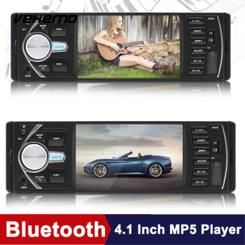 Car MP5 Player 4.1 Inch USB AUX Bluetooth DC12V Car MP5 Automotive Multimedia Player Support Rear View Cars Video Player image