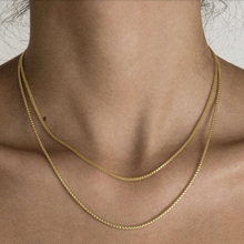Chain Necklaces Jewelry Gold-Plated Minimalist Women Gift More 18k Less for Thin-Box