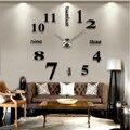 3D настенные часы зеркальные настенные стикеры s часы «сделай сам» Большие Акриловые кварцевые настенные часы съемные 4 цвета наклейка для д...