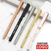 0.5mm Metal Ballpoint Pen Custom Advertising Ball Pen for School Student Stationery Office Supplies Lettering Engraved Name new engraved name pen gold foil metal ball point pen custom logo company name writing stationery gift office school pen with box