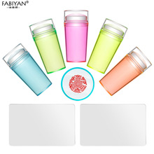 Nail-Art-Stamper Tools-Transfer-Template Stamping Plates Jelly Transparent Silicone