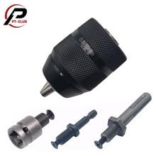 Бесключевой 0,8-10 мм 3-кулачковый сверлильный патрон 3 / 8-24UNF Быстросменный адаптер SDS-Plus Хвостовик 1/4 дюйма с шестигранной головкой и квадратно...