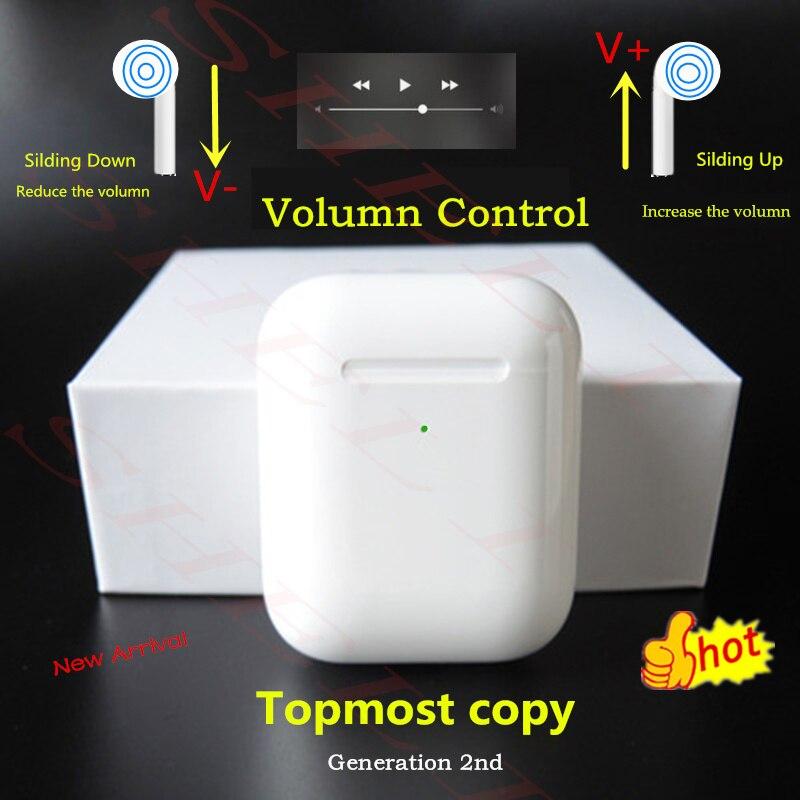 I90000 pro TWS Kopie Aire 2nd 1536u Chip Schiebe Volumen Control Drahtlose Bluetooth Kopfhörer Bass Pop up pk i10000 i20000 tws h1