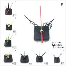 11 estilos diy relógios peças de quartzo relógio movimento mecanismo peças reparo preto + mãos peças reposição kit conjunto