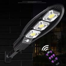 Remote PIR 3 Modes Solar Light Outdoor Graden Lamp Outdoor Lighting Street Garen Solar Lamp Wall Lights White Light