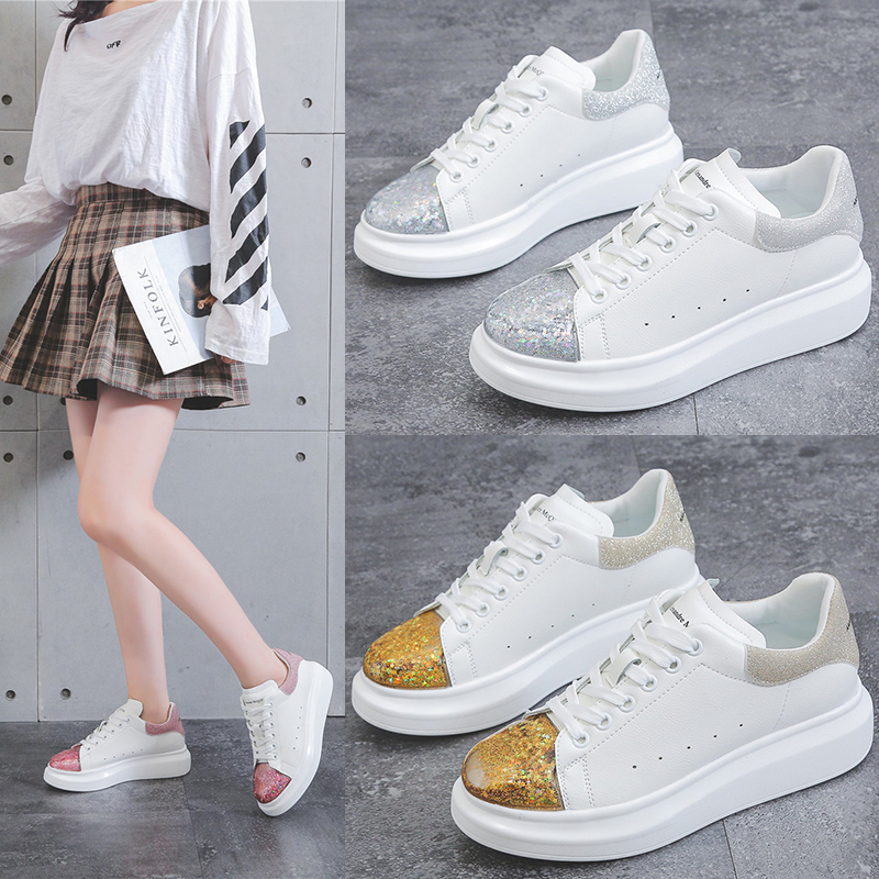 White Shoes Trainers Platform-Sneakers Alexand Designer Women Luxury Size-35-40 Thick title=