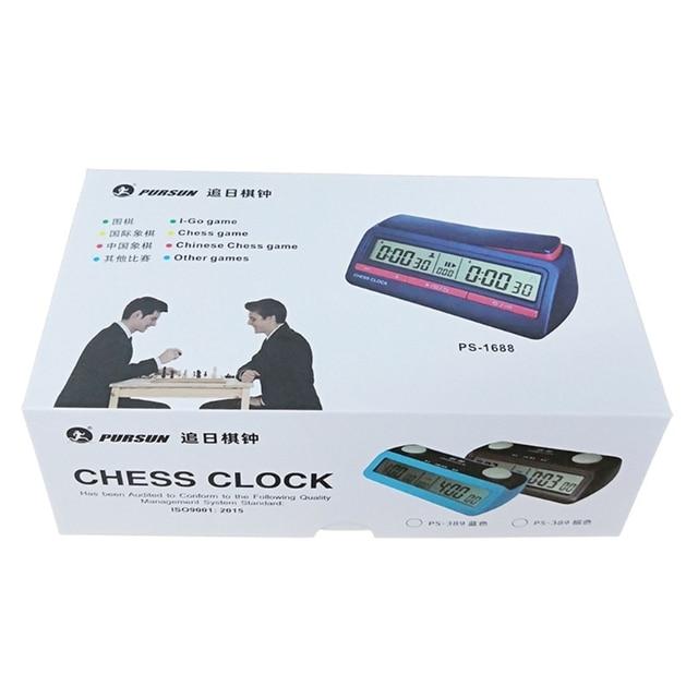 Pendule d'échecs avancée minuterie numérique compte à rebours horloge de jeu de société 5
