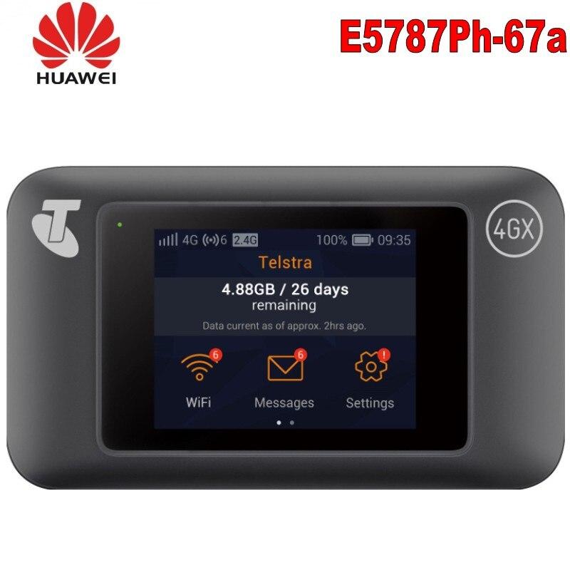 Débloqué huawei e5787 E5787s-67a LTE Cat6 Mobile WiFi Hotspot 4G routeur Portable + 3000mAh batterie huawei E5787Ph-67a