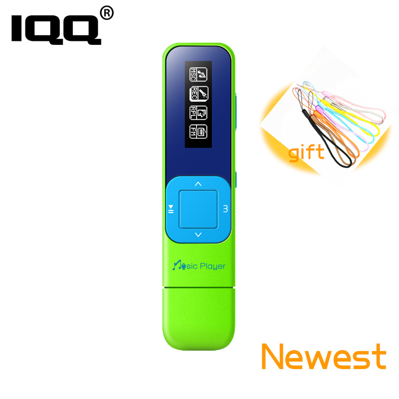 IQQ Q1 Mini Portable Hifi Lossless Music Player Bulit-in 8G With FM/Record/Playback Suite For Running Can Play 100Hours [Green]