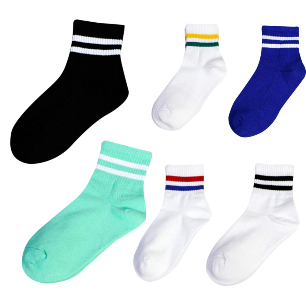 1 Pair Classic Women Men Stripes Cotton Socks Retro Old School Hiphop Skate Short Meias Calcetine Harajuku White Cheap Sock