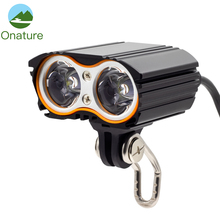 Onature Powerful Ebike Light 800 Lumen with 2 Mount Way Motorcycle Headlight 2PCS T6 LED 12V 24V 36V Electric Bike Headlight