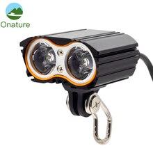 Onature potężny Ebike Light 800 lumenów z 2 sposób montażu reflektor motocyklowy 2 sztuk T6 LED 12V 24V 36V elektryczny reflektor rowerowy