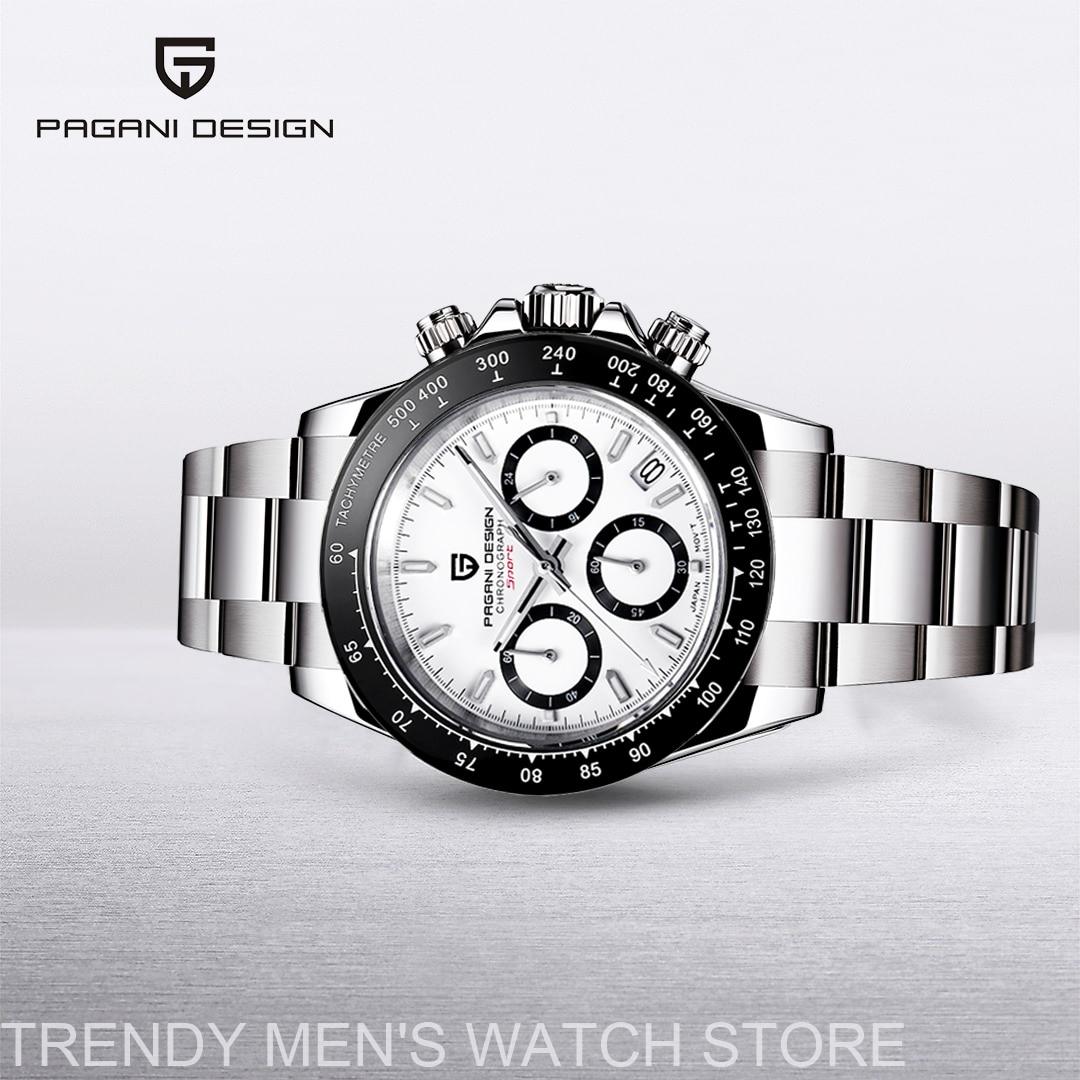 PAGANI Дизайн Daytona мужские часы брендовые Роскошные Кварцевые наручные часы для мужчин Автоматическая Дата 100 м водонепроницаемый хронограф ...