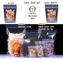 1PCS Self-reliance bag self-styled stick bone bag tea bag tea dried foods customize LOGO printing sealing pocket transparent sea free shipping 1kg pure wild natural wild dried seabuckthorn sea buckthorn tea chjian tea