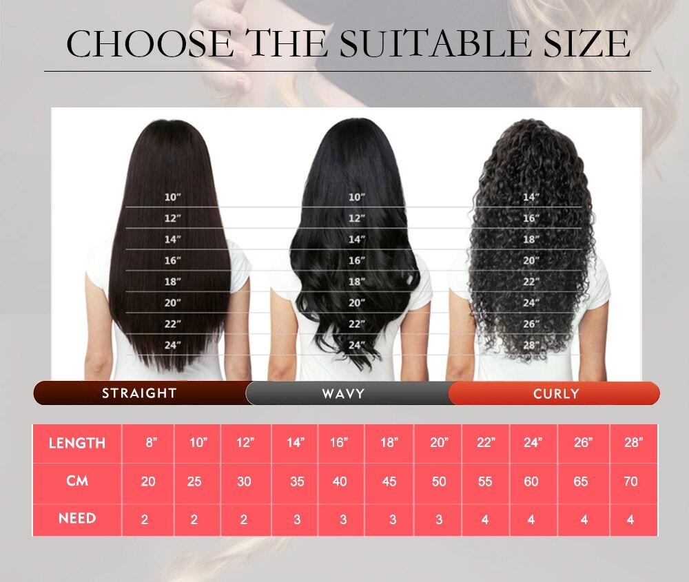 pacotes brasileiro vigin extensão do cabelo humano
