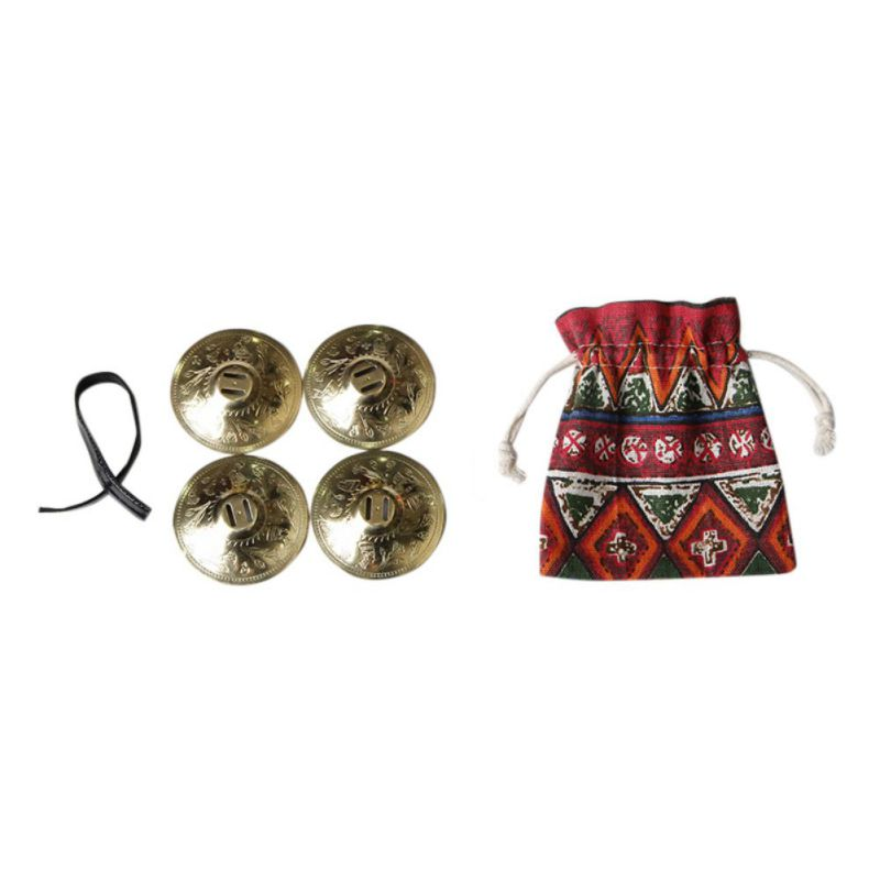 2 Packs Dance Finger Cymbals Belly Dance Finger Cymbals Egyptian ATS Copper Musical Instruments Music Props