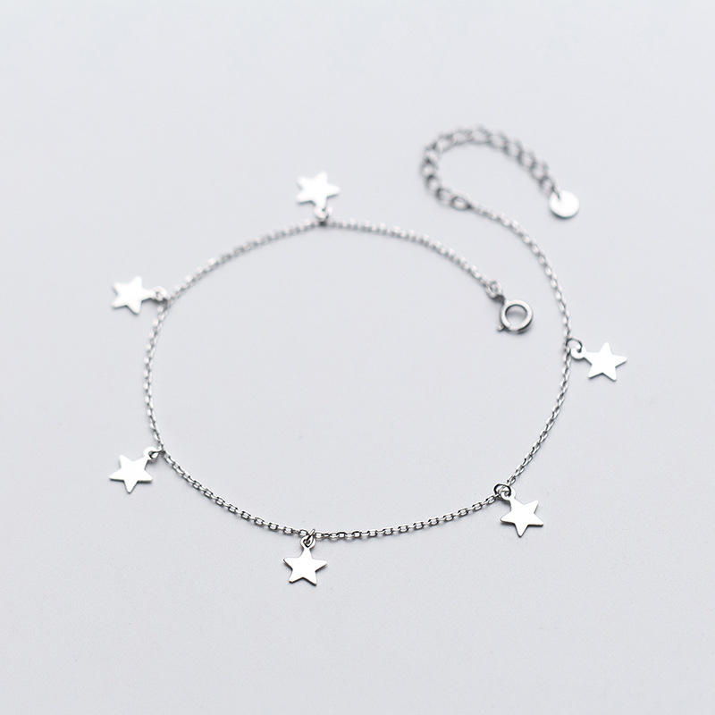 MloveAcc Star Charm Anklet Foot Chain 2019 New Summer Yoga Beach Leg Bracelet Charm Anklets Fashion Jewelry Gifts for Women