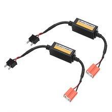 2 Pcs H7 Koplamp Led Canbus Decoder Canceller Foutloos Weerstand Anti Flicker 9V-16V Auto Led koplamp Lampen Accessoires