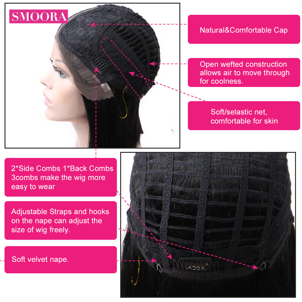 Deep Wave Lace Front  Wigs 13X1 Middle Part Lace Wig Pre Plucked With Baby Hair 150% Density 10-30Inch 6