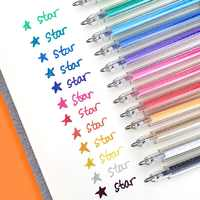 12 Bling Color Highlighter Glitter Art Marker Pen Ballpoint 1.0mm Drawing Highlight Liner Pens Lettering Album School F894