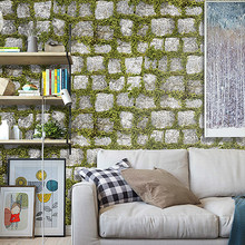 Simulation Plants Wallpaper 3D Wall Stickers PVC Paper Rocks Pattern Wallpaper Living Room Office Wall Decor Home Decoration(China)