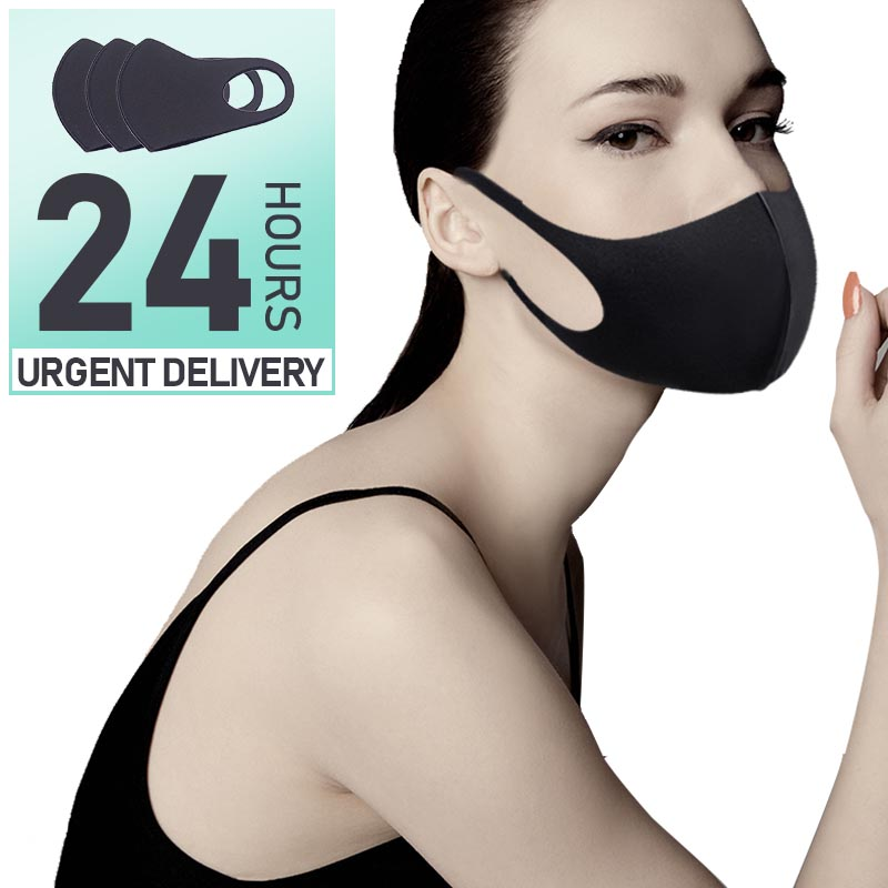 Unisex Sponge Face Mask Anti Haze Face Shield Mouth Carbon Filter Windproof Mouth-muffle Disposable Cycling Face Masks 2020