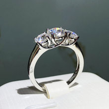 Bague en argent Sterling 100% S925 pour femme, bijou De mariage en argent 925 véritable, diamant naturel, pierre précieuse, bisuteria
