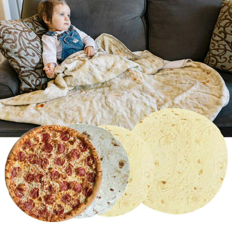 Alfombras de Burrito tiro Tortilla textura suave polar Super cama sofá cama edredón