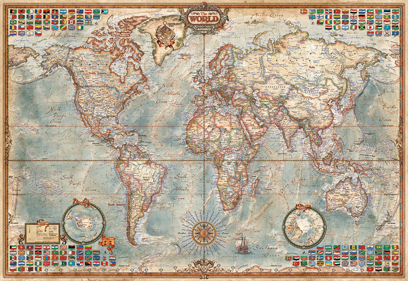 monte educa mapa do mundo mini 1000 pcs puzzles brinquedos