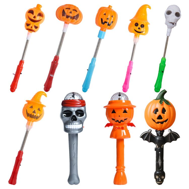 Glowing Sticks Creative Toys Children's Gift Pumpkin Lamp The Skeleton Lamp Halloween Trick Or Treat A Sounding Stick