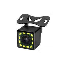 Автомобильная камера заднего вида Универсальный 12 Светодиодный видеорегистратор ночного видения дублирующая для парковки заднего вида Водонепроницаемая камера 170 широкоугольный HD цветное изображение