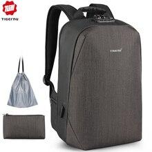 """2020 Tigernu новый рюкзак для ноутбука с защитой от кражи 15,6 """", мужской рюкзак с большой емкостью и зарядкой через usb, бизнес рюкзаки для мужчин с бесплатными модными сумками"""