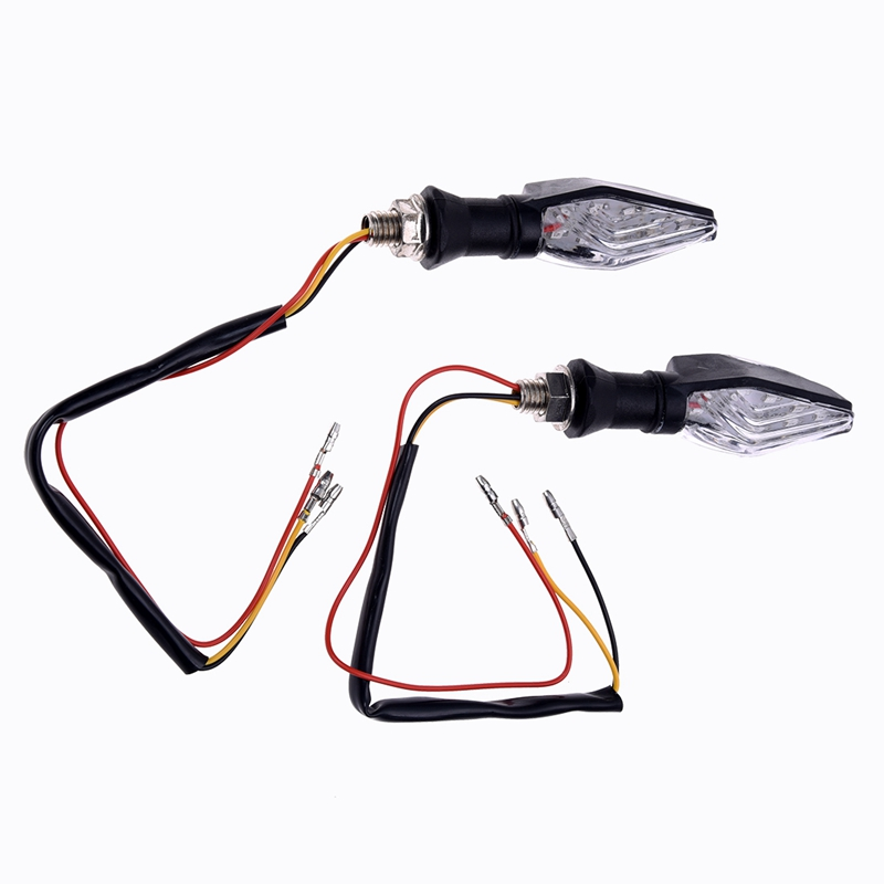 2 Piece Light Arrows Motorcycle 12 LED SMD 3528 DC 12V Turn Signal - Yellow & Blue
