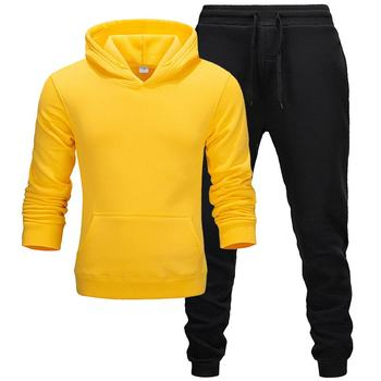 New hot brand men sweatshirt Tracksuit pure colour thermal underwear Men Sportswear Sets Fleece Thick hoodie+Pants Sporting Suit men tracksuit cotton gyms suit sportswear two piece outfits fleece thick hoodie trousers jackets