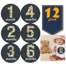 Newborn-Growth Baby Stickers Photo-Props Pregnant-Monthly Memory-Recording Starry Sky-Pattern