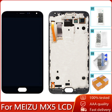 "5.5"" AMOLED For MEIZU MX5 M575M M575H LCD Display Touch Screen Digitizer Assembly Replacement Part 100% Tested Free Tools"