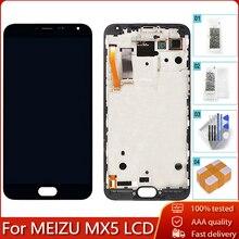 """5.5 """"AMOLED עבור MEIZU MX5 M575M M575H LCD תצוגת מסך מגע Digitizer עצרת החלפת חלק 100% נבדק משלוח כלים"""