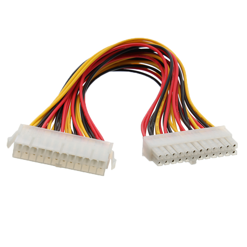 30cm ATX <font><b>24</b></font> <font><b>Pin</b></font> Male to 24Pin Female Power Supply <font><b>Extension</b></font> <font><b>Cable</b></font> Power Lead Connector Wire for Internal PC PSU TW image