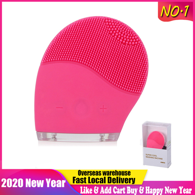 Electric Facial Cleaning Brush Cleanser Massage Skin Face Care Mini Washing Machine Waterproof Silicone Dirt Remove