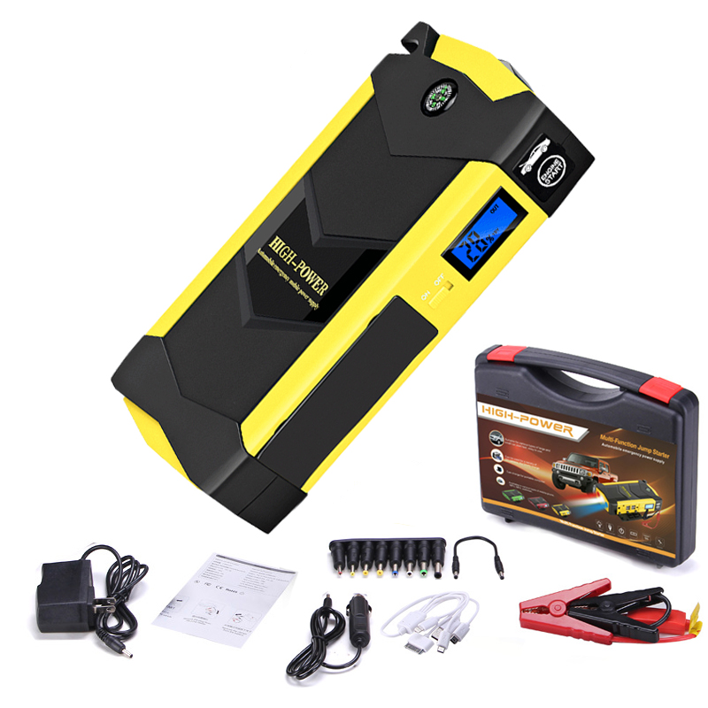 Emergency Starting Device <font><b>12V</b></font> 20000mAh Car Jump Starter <font><b>Power</b></font> <font><b>Bank</b></font> <font><b>for</b></font> Diesel Petrol Car Charger Battery Booster with Flashlight image