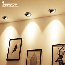 Светодиодный светильник с регулируемой яркостью COB встраиваемый светильник регулируемый светильник 3W 5 Вт 7 Вт 9 Вт 12 Вт круглый светильник для спальни и кухни Внутреннее освещение 220 В 110 В
