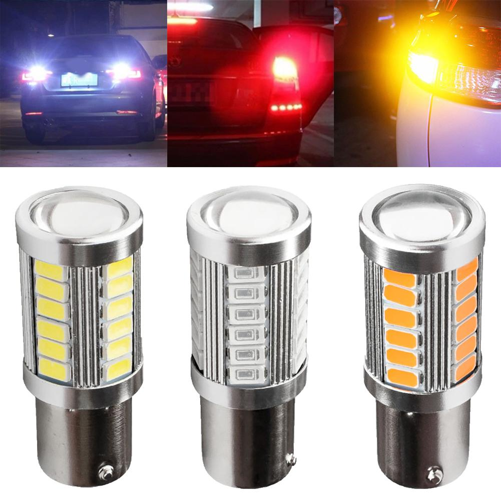 BA15S 1156 P21W 33-LED SMD 5730 NO ERROR Car Tail Bulb Brake Light Backup Reverse Lamp White Yellow 12V