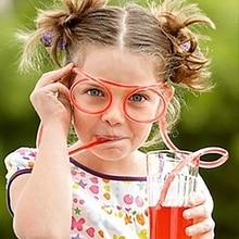 Глазная соломинка в виде очков забавные детские соломенные наборы труб вечерние аксессуары для бара