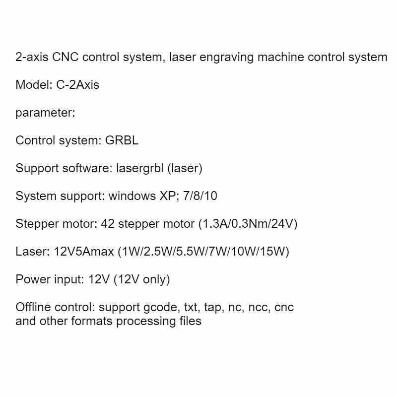 2 축 GRBL 1.1 CNC 레이저 제어 시스템 라우터/레이저 조각기 제어 보드 오프라인 컨트롤러 USB 포트 컨트롤러 카드
