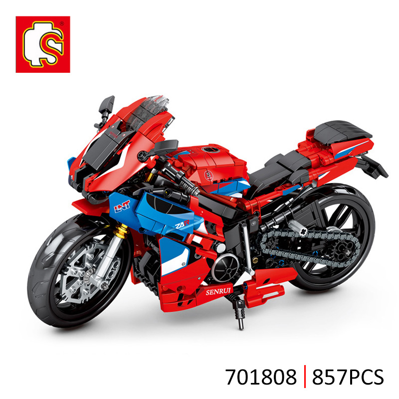 SEMBO 857Pcs City Technical Off-road Racing Motorbike Building Blocks Creative Motorcycle Model Bricks Toys Gifts For Children