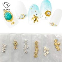 LEMAX Mix Types/bag Rhinestone Nail Art Decorations 3D DIY Alloy Jewelry Diamond Manicure Tools Charms Studs Girl L520