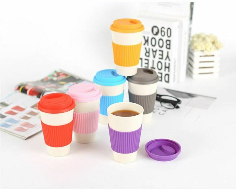Wheat Straw Mugs Coffee Cup with Lid Home Portable Outdoor Fashion Protable Travel Water Bottle Office Coffee Tea Water Cup