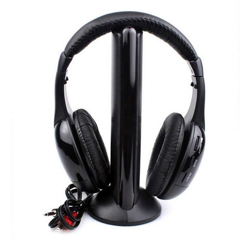 Лидер продаж, наушники с подставкой 5 в 1, беспроводные наушники Casque Audio Sans Fil Ecouteur, Hi Fi радио, FM, TV, MP3, MP4|Наушники и гарнитуры|   | АлиЭкспресс