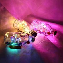 Christmas Holiday Party Decoration Cork Shaped Wine Bottle Lights 1m/2m DIY Supplies LED String Light with Stopper